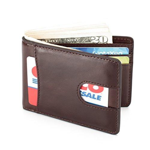 mens-leather-wallet-slim-front-pocket-wallet-billfold-id-window-rfid-blocking-coffee