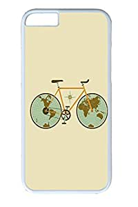 iPhone 6 Plus Case, Retro Bicycle Illustration Cute Ultra Slim Pattern Bumper for iPhone 6 Plus Cover (5.5) iPhone 6 Plus cases for Girls iphone 6 Plus case hard PC White Skin by Maris's Diaryby Maris's Diary