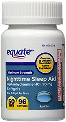 Sleep Aid 50 mg, Maximum Strength, 96 Softgels (Compare to Unisom)