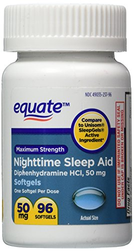 Sleep Aid 50 mg, Maximum Strength, 96 Softgels
