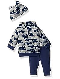 Gerber Baby Boy - Conjunto de 3 Piezas de Microforro Polar, pantalón y Capucha