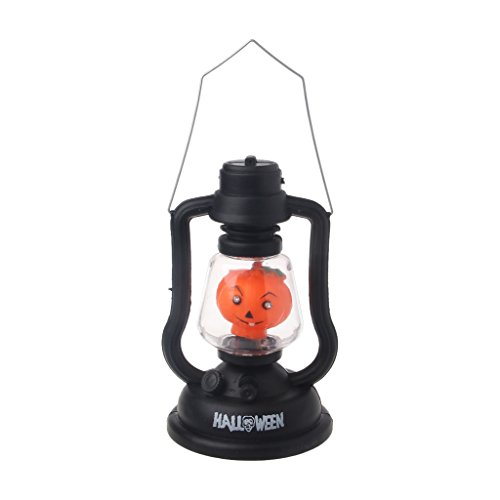 [Itemap Halloween Witch Skull Pumpkin LED Handheld Lamp Light with Music Horror Costume (Skull)] (Music Stars Halloween Costumes)