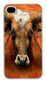 iPhone 4s Cases & Covers -Texas Longhorn PC Hard Plastic Case for iPhone 4/4S Whtie