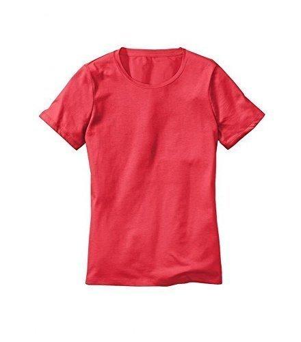 Camiseta con Cuello redondo Mujer de Eddie Bauer - algodón, rojo claro, 100%