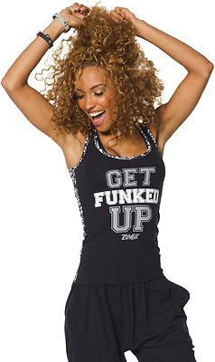 Zumba (ズンバ) Get Funked Up Racerback Tank Top Black [並行輸入品]