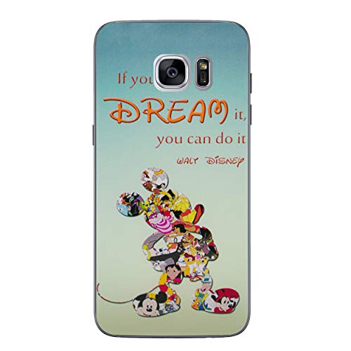 Galaxy S7 Disney Quote Silicone Phone Case/Gel Cover for Samsung Galaxy S 7 (S7/G930) / Screen Protector & Cloth/iCHOOSE / Dream