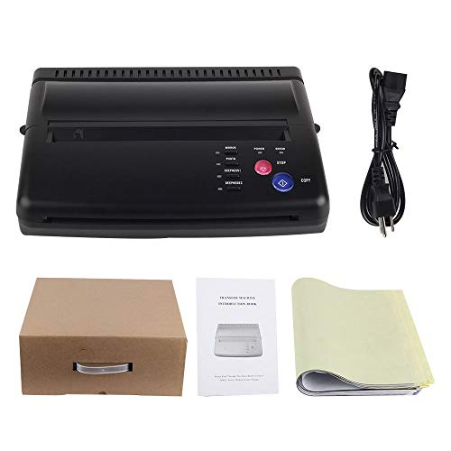 Black Tattoo Transfer Stencil Machine Thermal Copier with 10 pcs transfer Papers ()
