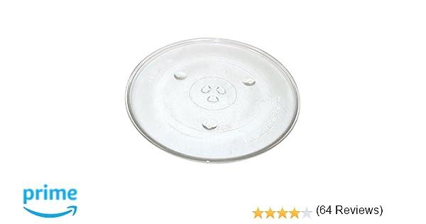 Qualtex Plato giratorio de cristal para microondas: Amazon.es: Hogar