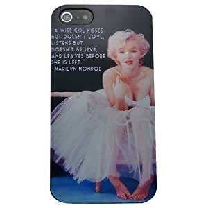 Generic Marilyn Monroe 07 Hard Black Case Cover Skin for iphone 4/4s 5g Free Screen Protector
