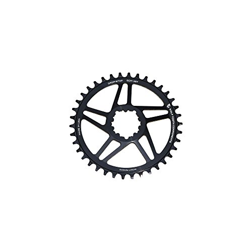 (Wolf Tooth Components Direct Mount Drop-Stop 42T Chainring SRAM GXP Cranks Black)