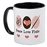 CafePress - Peace Love Flute Mug - Unique Coffee Mug, Coffee Cup