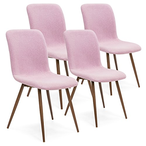 Best Choice Products Set of 4 Wool Eames Style Fabric Cushion Chairs 410fobWQYFL