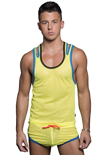 Fissure Tank, Neon Yellow, Large