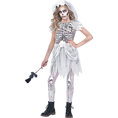 Halloween Costumes City Of Bones (Skeleton Bride Costume for Girls, Small, with Included Accessories, by)