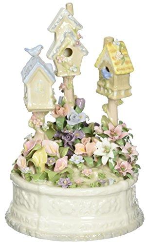 Cosmos 58010 Porcelain Birdhouse Figurine