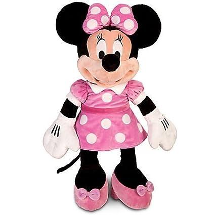 Amazon Com Disney Large Minnie Mouse Plush Toy 27 H Toys Games