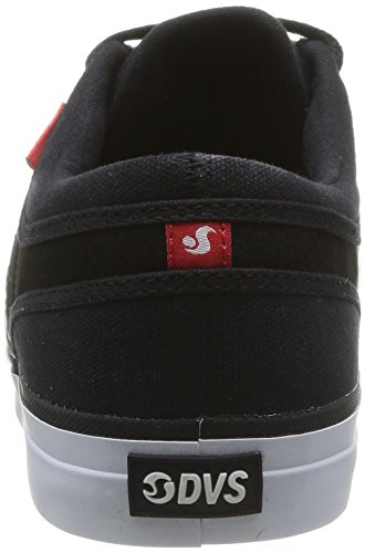 Blk Black Canv Suede red Chaussure Canvas Dvs Aversa pEqPOP