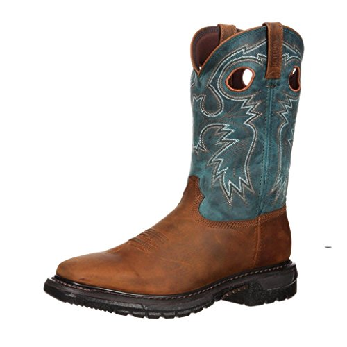 Rocky Men's Original Ride Western Boots,Brown,7 M (Ride Square Rocky)