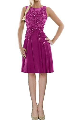 Hundkragen Partykleider Abendkleider Spitze La Cocktailkleider Marie Promkleider Damen Pink Knielang Braut q8wXfpt