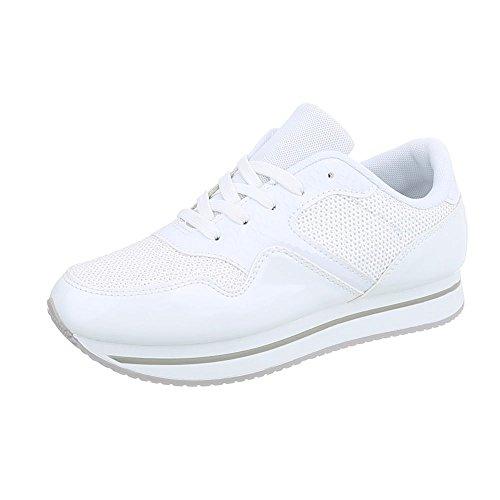Ital Sneakers da donna Design AB Scarpe low bianco piatto Sneaker 87 na474qwY