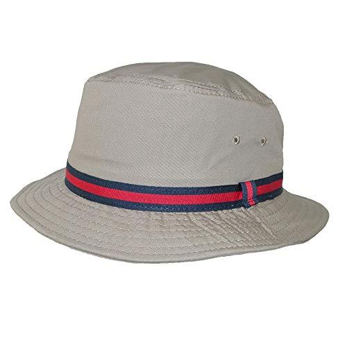 Scala Classico Rain Hat - Bucket Hat by Dorfman Pacific (British Tan Large) ()