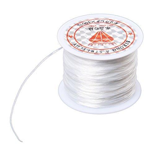 TOOGOO(R) White Elastic Stretchy Crystal Line Jewelry Beading Thread Spool 120 Meters