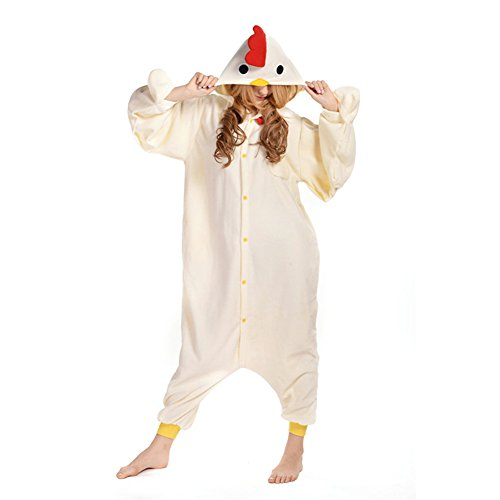 Amurleopard Coverall Pajamas Hoodie Animal Costumes Cosplay Chicken (Chicken Hoodie Adult Costumes)