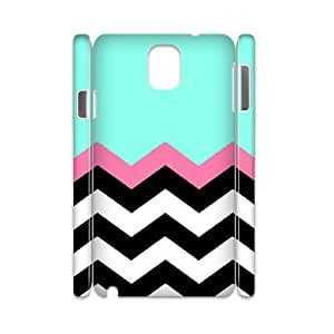 3D Samsung Galaxy Note 3 Cases Chevron with Pink, Stripe [White]