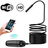 Aramox Wireless Endoscope, Car WiFi Endoscope Inspection Camera Wireless Endoscope for Android
