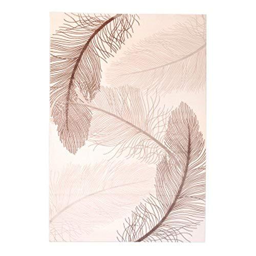 - Handmade 3D Sculptured Feather Pattern Carpet American Style Living Room Carpet Bedside Carpet Home Decoration Carpet,T,1600mm x 2300mm