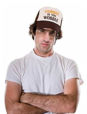TeeStars - Gobble Til You Wobble Thanksgiving Turkey Trucker Hat Mesh Cap