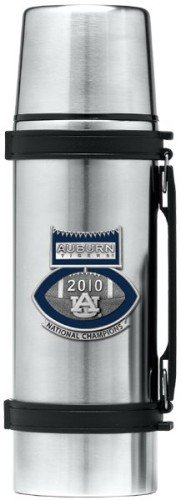 Auburn Tigers 2010 BCS National Champions Football Logo - Thermos Logo Pewter