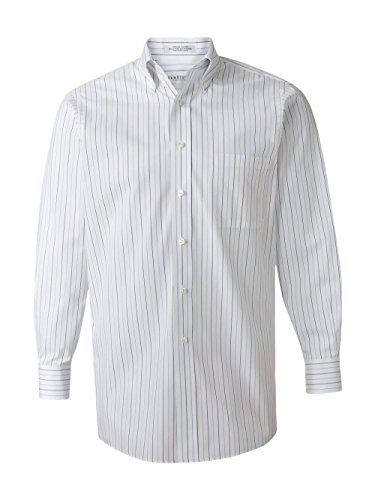 Dress Stripe Shirt (Van Heusen 56900 Mens Wri-Resistant Blended Pinpoint - Multi Pinstripe - X-Large)