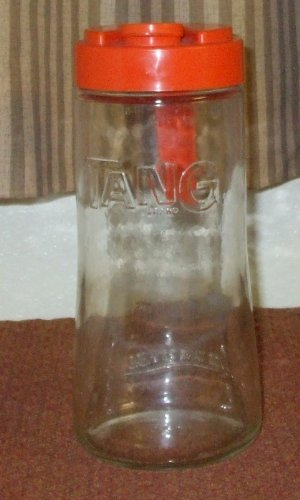 Decanter Anchor (Tang Pitcher Decanter Anchor Hocking Glass with Orange Plastic Lid)