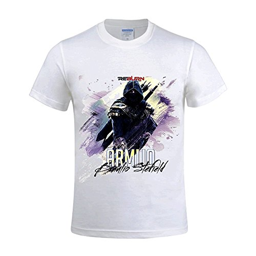 [Armijo Braulio Stefield Men Crew Neck Printed T Shirts For Men White] (Traditional Russian Outfits)