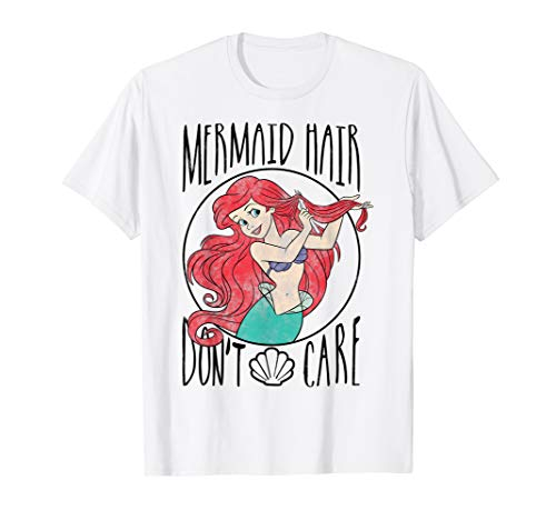 Disney Little Mermaid Ariel Mermaid Hair Don't Care T-Shirt -