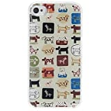 Topforcity Apple iphone 4 4S case - Puppies Pattern Pattern Design Epoxy Hard Case + Screen protector