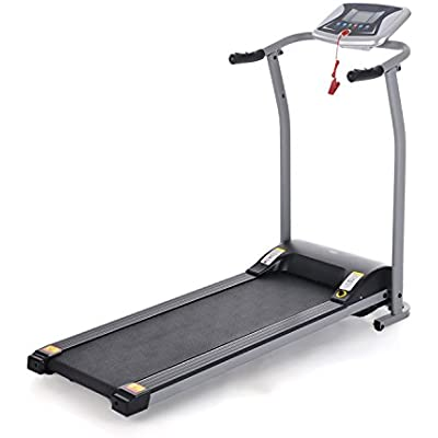 TelDen Easy Assembly Folding Exercise Electric Treadmill Portable Motorized Running Machine for Home Gym