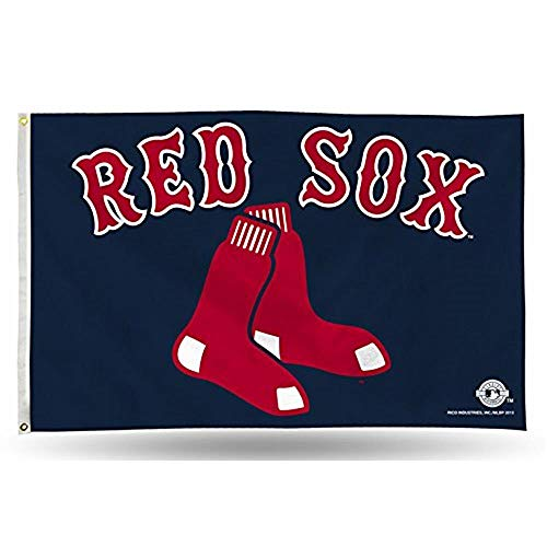 (MLB Boston Red Sox 3-Foot by 5-Foot Banner Flag)
