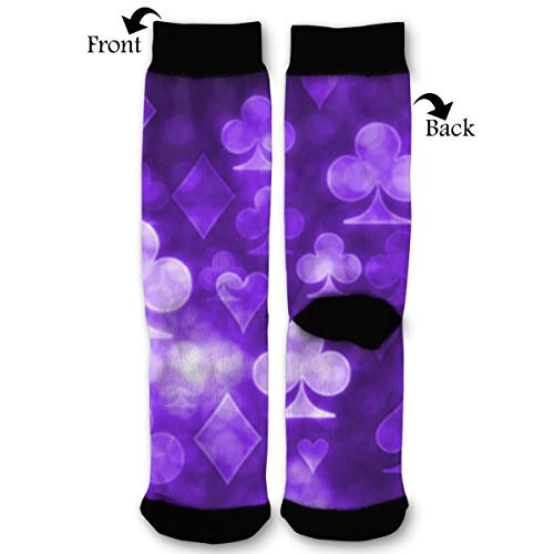 Playing Cards Symbols Socks Funny Fashion Novelty Advanced Moisture Wicking Sock for Man ()