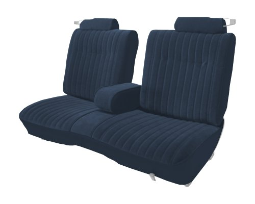 Acme U207-015M Front Blue Velour with Navy Blue Vinyl Bench Seat Upholstery