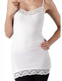 Zenana Outfitters Women's Plus Size Zenana Basic Long Layering Lace Cami