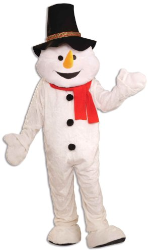 Forum Novelties Men's Plush Snowman Mascot Adult Costume, Multicolor, Standard by Forum Novelties