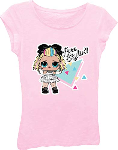 L.O.L. Surprise! Girls Toy Shirt - LOL Surprise Tee - The Struggle is Real T-Shirt (Soft Pink, Large-12/14)