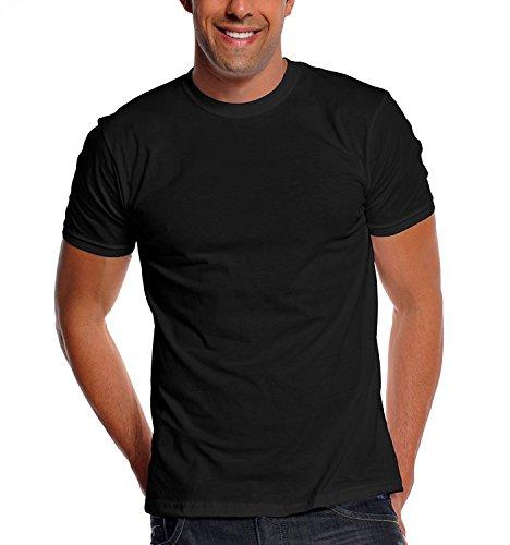 Pro Club Men's Premium Ringspun Cotton Short Sleeve T-Shirt, Black, - T Pro Black Shirts