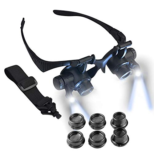 Led Light 20X Magnifier Loupe Lens in US - 9
