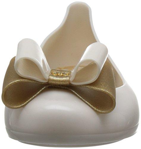 Bailarinas Zaxy Glitter Mujer Pop 3 Bow para Ivory Beige ppUPwqF