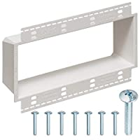 4-Gang XL Electrical Box Extender with Machine Screws, Complete Kit by DoodleYolk Inc. Junction box extension includes 6-32 truss head screws. Easy and Secure fix for miscut or sunken wall plates.