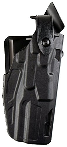 Safariland 7360 7Ts ALS/SLS Level-3 with Hood Guard Duty Glock 19 23 Holster, Plain Black, Right Hand