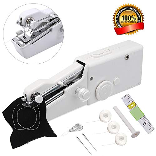 Portable Sewing Machine,Mini Handheld Sewing Machine MSDADA Electric Stitch Household Tool with Measuring Tape for Fabric, Clothing, Kids Cloth, Home Travel ()